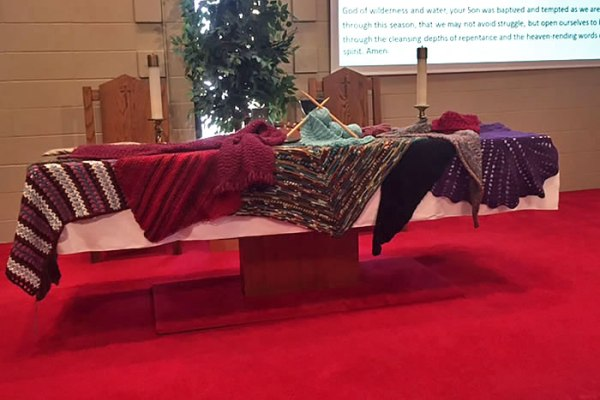 Prayer Shawls created by the Fiber of Faith Group