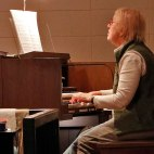 Diane Menninger, now retired, at the LPC Organ