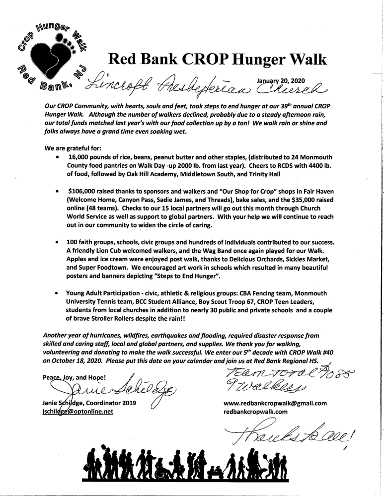 CROP WALK Letter to LPC