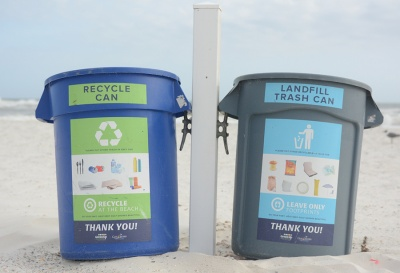 trash-recycling bins